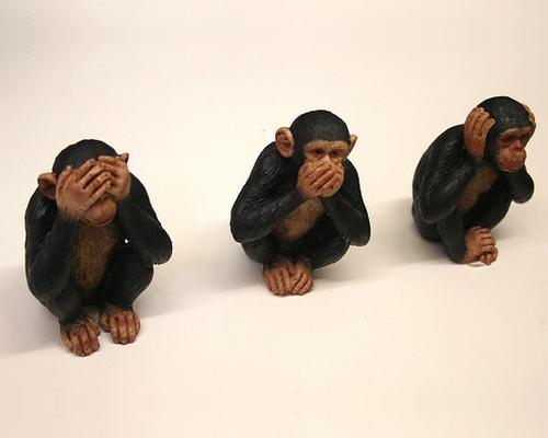 tre scimmi - retta parola
